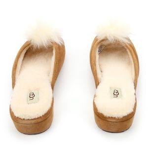 185da5147bb UGG Yvett Chestnut Sheepskin Pouf Glam Slipper 🐑 Boutique
